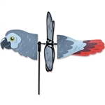 African Grey Parrot Petite Garden Spinner with wings that spin in a gentle breeze. All hardware included.