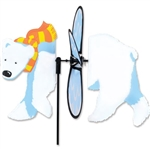 Polar Bear Petite Garden Spinner with fins that spin in a gentle breeze. All hardware included.