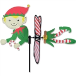 Christmas Elf Petite Garden Spinner with fins that spin in a gentle breeze. All hardware included.
