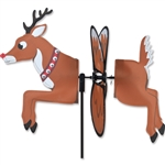 Christmas Reindeer Petite Garden Spinner with fins that spin in a gentle breeze. All hardware included.