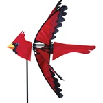 Cardinal Garden Spinner with wings that spin in a gentle breeze. All hardware included.