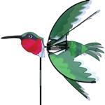 Hummingbird Garden Spinner with wings that spin in a gentle breeze. All hardware included.