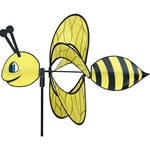 Bee Whirly Wing Garden Spinner with wings that spin in a gentle breeze. All hardware included.