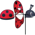 Ladybug Whirly Wing Garden Spinner with wings that spin in a gentle breeze. All hardware included.