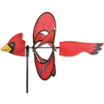 Cardinal Whirly Wing Garden Spinner with wings that spin in a gentle breeze.