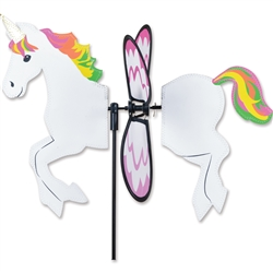 Unicorn Petite Garden Spinner with wings that spin in a gentle breeze. All hardware included.