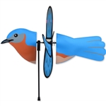 Bluebird Petite Garden Spinner with wings that spin in a gentle breeze. All hardware included.