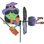 Witch Petite Garden Spinner with wings that spin in a gentle breeze. All hardware included.