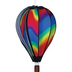 Wavy Gradient Hot Air Balloon Garden Spinner that spins in a gentle breeze.
