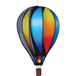"Sunset Gradient 22"" Hot Air Balloon Garden Spinner that spins in a gentle breeze."