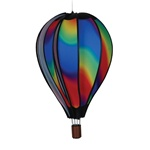 "Wavy Gradient 22"" Hot Air Balloon Garden Spinner that spins in a gentle breeze."