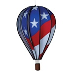 "Patriotic 22"" Hot Air Balloon Garden Spinner that spins in a gentle breeze."