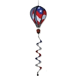 "USA 16"" Hot Air Balloon Garden Spinner that spins in a gentle breeze."