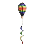 "Double Chevron 12"" Hot Air Balloon Garden Spinner that spins in a gentle breeze."