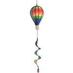 "Classic Rainbow 12"" Hot Air Balloon Garden Spinner that spins in a gentle breeze."