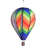 "Traditional Rainbow 26"" Hot Air Balloon Spinner that spins in a gentle breeze."