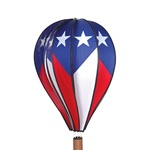 "Patriotic 26"" Hot Air Balloon Garden Spinner that spins in a gentle breeze."
