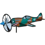 Smaller P-40 War-Hawk Airplane Garden Spinner with a wheel that spins in a gentle breeze. All hardware included.
