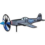 Smaller P-51 Mustang Airplane Garden Spinner with a wheel that spins in a gentle breeze. All hardware included.
