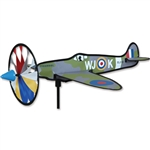 Smaller Spitfire Airplane Garden Spinner with a wheel that spins in a gentle breeze. All hardware included.