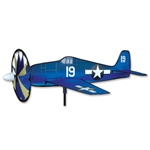 Smaller Hellcat Airplane Garden Spinner with a wheel that spins in a gentle breeze. All hardware included.