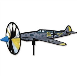 Smaller ME-109 Airplane Garden Spinner with a wheel that spins in a gentle breeze. All hardware included.