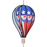 "Vintage Patriot 18"" Hot Air Balloon Garden Spinner that spins in a gentle breeze."
