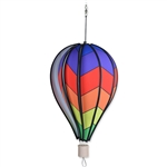 "Chevron Rainbow 18"" Hot Air Balloon Garden Spinner that spins in a gentle breeze."