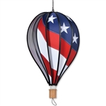 "Patriotic 18"" Hot Air Balloon Garden Spinner that spins in a gentle breeze."