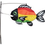 Bright Rainbow Swimming Fish Wind Sock that sways in a gentle breeze. All hardware included.