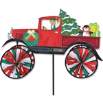 Old Time Christmas Truck Garden Spinner with wheels that spin in a gentle breeze. All hardware included.