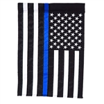 Applique Police Support house flag by Custom Decor.