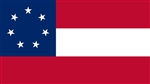 3 Feet by 5 feet 1ST National Flag Of The Confederacy Stars & Bars with grommets by National Flag Company. Made in USA.