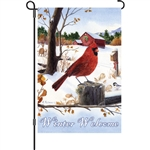 Cardinal Morning garden flag by Premier Kites.