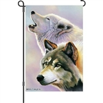 Wolves Are Forever garden flag by Premier Kites.