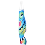 37 inch Cool Rainbow Koi Wind Sock by Premier Kites that sways in a gentle breeze.