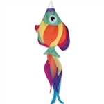 36 Inch Premier Kites Rainbow Fish Windsock.