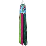 40 inch Paisley Hummingbird Wind Sock by Premier Kites that sways in a gentle breeze.
