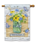 Blossom Jar Breeze Art spring or summer House Flag