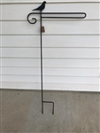 Bird Wrought Iron Garden Flag Stand. Made in the USA . In store pick up only.