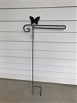 Butterfly Wrought Iron Garden Flag Stand. Made in the USA . In store pick up only.