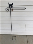 Cat Wrought Iron Garden Flag Stand. Made in the USA . In store pick up only.