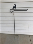 Deer Wrought Iron Garden Flag Stand. Made in the USA . In store pick up only.