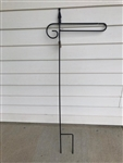 Finial Wrought Iron Garden Flag Stand. Made in the USA . In store pick up only.