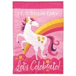 It's Your Day Applique Garden Flag by Magnolia Garden.