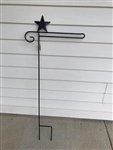 Star Wrought Iron Garden Flag Stand. Made in the USA . In store pick up only.