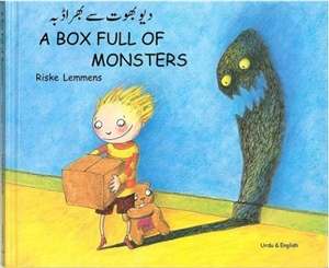 A Box Full of Monsters - Bilingual Book. Great Halloween Gift! Available in Albanian and Turkish