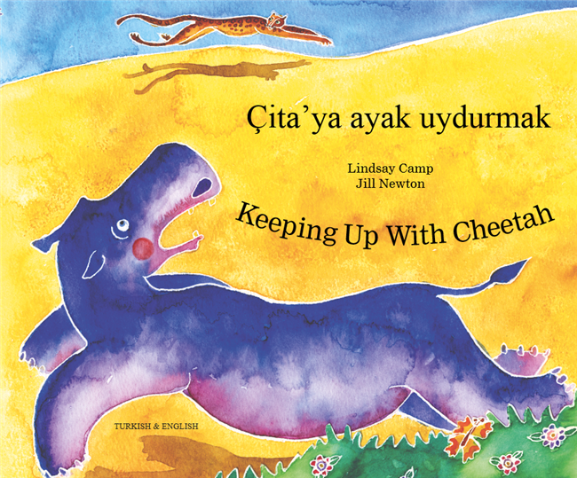 Keeping Up with Cheetah - Bilingual children's book about friendship supports social and emotional learning. Available in Chinese, Farsi, Kurdish, Spanish, Urdu, and many more foreign languages. Inspiring story for diverse classrooms.