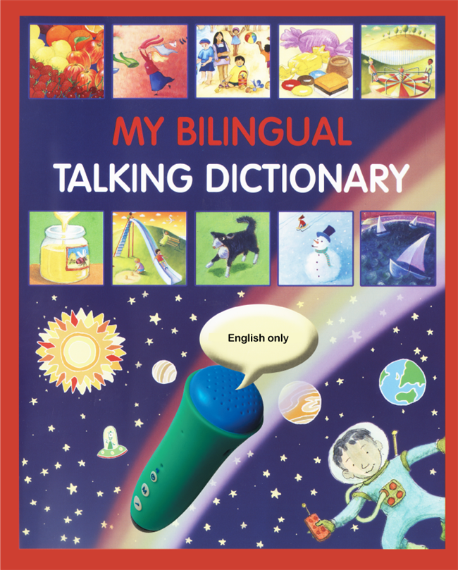 My Bilingual Talking Dictionary is a bilingual illustrated picture dictionary. Available in Spanish, Arabic, French, German, Italian, Japanese, Korean, Turkish, Vietnamese, and more! Great resource for teaching ESL or learning a foreign language.