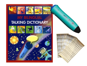 My Bilingual Talking Dictionary with PENpal Audio Recorder Pen is a bilingual illustrated picture dictionary with audio. Great resource for teaching English as a second language or teaching foreign language.